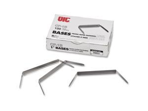 Officemate International Corp OIC99853 Prong Base F-Fastener- 2-.75in. Base 1in. Cap- Silver