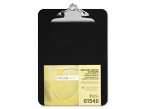 """Nature Saver Plastic Clipboard Recycled 1"""" Cap 9""""x12"""" Black 01540"""