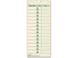 "Tops Job Cards 3-1/2""x8-1/2"" 500/BX Green Ink/Manila Paper 1290"