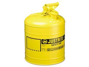 Justrite Safety Can Type I 5gal Yellow 7150200