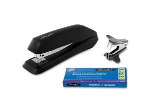 Acco Standard Stapler w/1250 Staples and Stapler Remover Black 54567