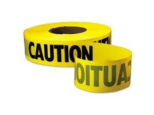 """Empire Caution Barricade Tape """"Caution"""" Text 3"""" x 1000ft Yellow/Black 771001"""
