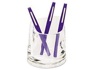 Swingline Stratus Acrylic Pen Cup 4 1/2 x 2 3/4 x 4 1/4 Clear 10137