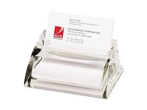 Swingline Stratus Acrylic Business Card Holder Holds 40 3 1/2 x 2 Cards Clear