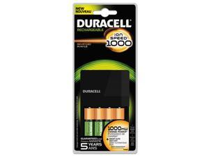 DURACELL Ion Speed AA/AAA Battery Charger with 4 Rechargeable NiMH AA Batteries