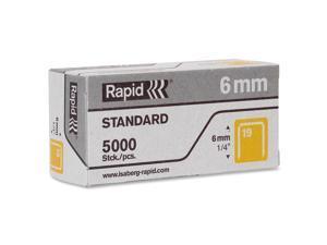 "Rapid Fine Wire Staples No. 19 1/4""L 5000/BX Gray 23391100"