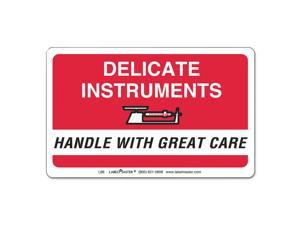 LabelMaster L86 Shipping/Handling Self-Adhesive Label, 2 1/4 X 4, Delicate Instruments, 500/Roll