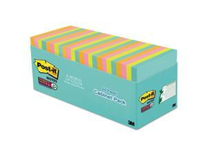 Post-it Super Sticky Pads in Miami Colors 3 x 3 Miami 70/Pad 24 Pads/Pack