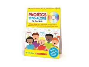 Scholastic Phonics Sing-Along Flip Chart & Cd Gr K-2 9780545104357