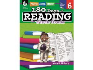 Shell Education 180 Days Of Reading Book For Sixth Grade 50927