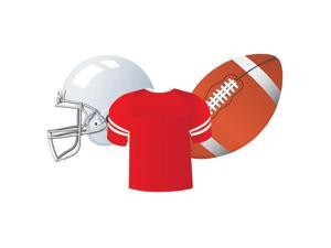 EUREKA EU-841258 FOOTBALL ASSORTED CUT OUTS