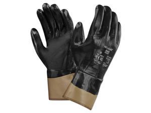 AnsellPro Nitrasafe Made With Kevlar Work Gloves Size 10 Black/Brown 12 PR