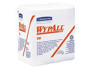 WypAll* X80 HYDROKNIT Wipes 1/4-Fold 12 1/2 x 13 White 50/Box 4 Boxes/Carton