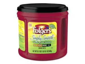 Folgers Coffee Simply Smooth 31.1 oz Canister 6/Carton 20513CT