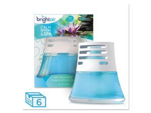 BRIGHT Air Scented Oil Air Freshener Calm Waters and Spa Blue 2.5oz 6/Carton