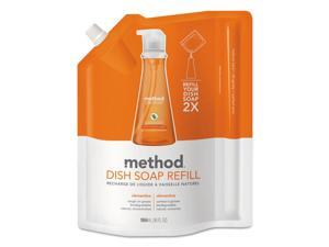 Method Dish Soap Refill Clementine Scent 36 oz Pouch 6/Carton 01165CT