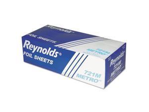 Reynolds Wrap Metro Pop-Up Aluminum Foil Sheets 12x10 3/4 Silver 500/BX 6/CT