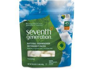 Seventh Generation Natural Dishwasher Detergent Concentrated Packs, Free & Clear