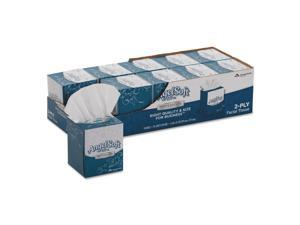 Angel Soft ps Ultra Facial Tissue 2-Ply White 7 3/5 x 8 1/2 96/Box 10 Boxes