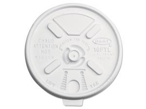 DART Lift n' Lock Plastic Hot Cup Lids 12-24oz Cups Translucent 1000/Carton