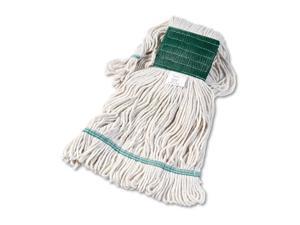Boardwalk Super Loop Wet Mop Head Cotton/Synthetic Medium Size White 12/Carton