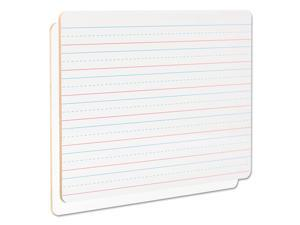 "Universal Lap/Learning Dry-Erase Board Lined 11 3/4"" x 8 3/4"" White 6/Pack 43911"