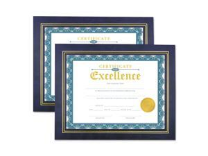 Universal Leatherette Document Frame Certificate/Document 11 x 8 1/2 Blue 2/PK