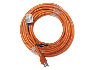 Innovera 72350 Indoor Extension Cord, Locking Plug, 50Ft, Orange