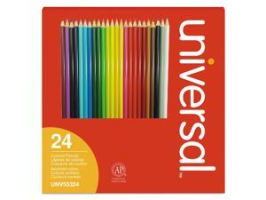 Woodcase Colored Pencils, 3 mm, Assorted Lead/Barrel Colors, 24/Pack 55324