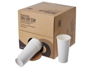 Boardwalk Convenience Pack Paper Hot Cups 20 oz White 135/Carton WHT20HCUPOP