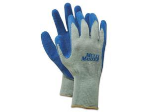 Boardwalk BWK00027XL Rubber Palm Gloves, Gray/Blue, X-Large, 1 Dozen