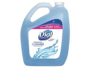 Dial DIA15922 Antimicrobial Foaming Hand Wash, Spring Water, 1 Gal Bottle, 4/Carton
