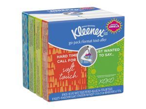 Kleenex On The Go Packs Facial Tissues 3-Ply White 16 Sheets/Pack 11975