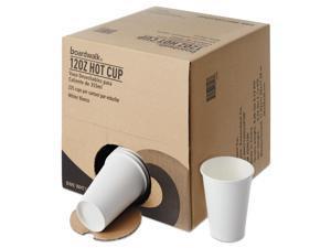 Boardwalk Convenience Pack Paper Hot Cups 12 oz White 225/Carton WHT12HCUPOP