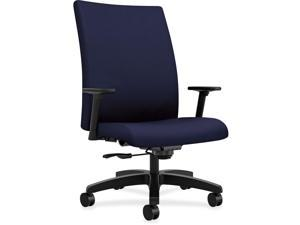 "HON Big/Tall Task Chair Mid-back 32-1/4""x28""x43-1/8"" Navy IW801CU98"