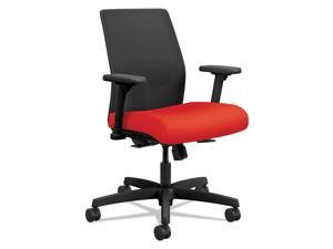 HON Ignition 2.0 Ilira-Stretch Low-Back Mesh Task Chair Ruby Fabric Upholstery