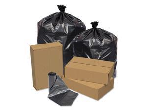 Pitt Plastics Eco Strong Can Liners 45 gal 1.5 mil 40 x 46 Black 100/Carton