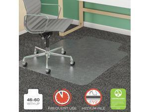 "deflecto SuperMat Frequent Use Chair Mat, Rectangle, 46"" x 60"", Medium Pile, Lip"