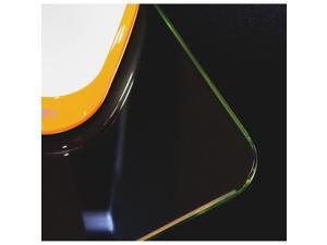 "Desktex Glaciermat Glass Desk Pad - 36"" Width x 20"" Depth - Clear  FLRFCDE2036G"