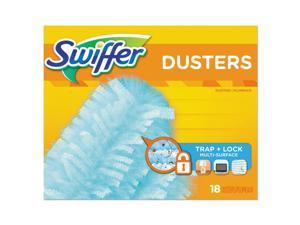 "Swiffer Refill Dusters Dust Lock Fiber 2"" x 6"" Light Blue 18/Box 4 Boxes/Carton"