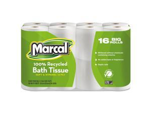 Marcal 100% Recycled Two-Ply Toilet Tissue White 96 Rolls/Carton 16466