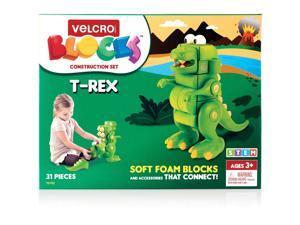 "Velcro Blocks Construction Set T-Rex 7""Wx9-3/4""Lx11-2/5""H Multi 70192"