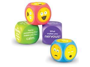"Learning Resources Emoji Cubes Soft Foam 7""Wx9""Lx2""H 4/ST Multi LER7289"