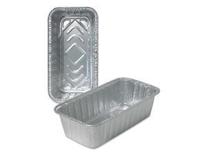 Durable Packaging Aluminum Loaf Pans, 4 9/16w x 2 3/8d x 8 11/16h, Silver, 500