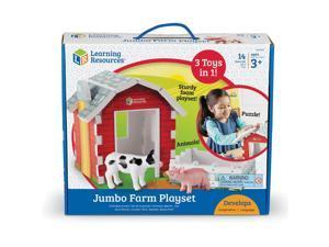 "Learning Resources Playset Jumbo Farm 10-4/5""Wx12-7/10""Lx2-4/5""H Multi LER0831"