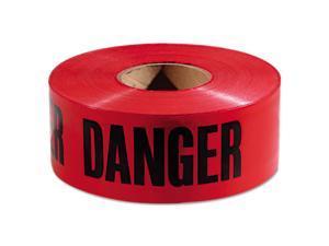 """Empire Danger Barricade Tape """"Danger"""" Text 3"""" x 1000ft Red/Black 771004"""