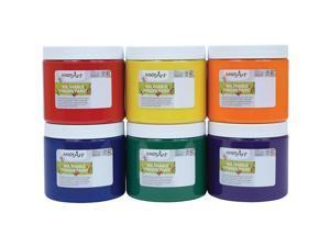 """Handy Art Finger Paint Washable 7-1/2""""Wx11-1/4""""Lx4-1/2""""H 6/ST AST 882255"""