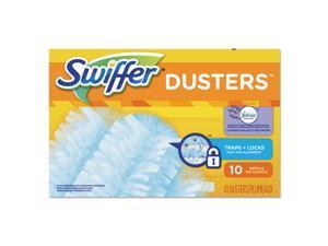 Swiffer Refill Dusters DustLock Fiber Light Blue Lavender Vanilla Scent 10/Bx
