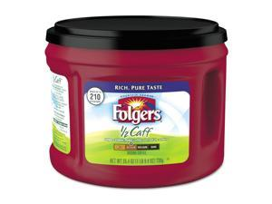 Folgers Coffee Half Caff 25.4 oz Canister 6/Carton 20527CT