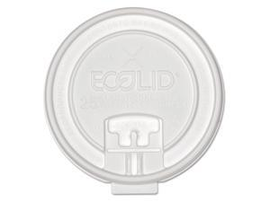 Eco-Products 25% Recy Content Dual-Temp Lock Tab Lid w/Straw Slot 10-20oz  50/PK